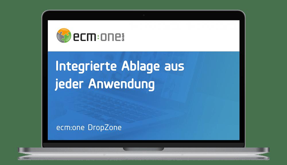 ecm:one Apps DropZone