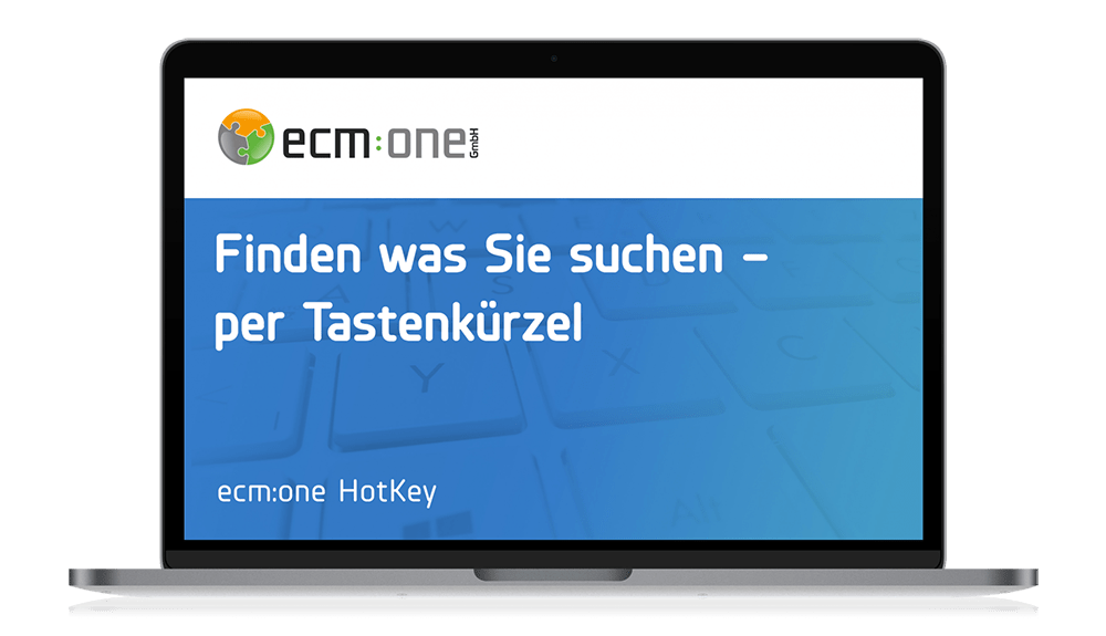 ecm:one Apps HotKey
